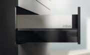 BLUM TANDEMBOX intivo терра черный со стеклянной вставкой