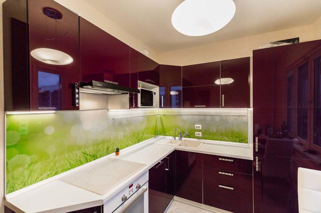 Кухни дизайн новинки угловые глянцевые