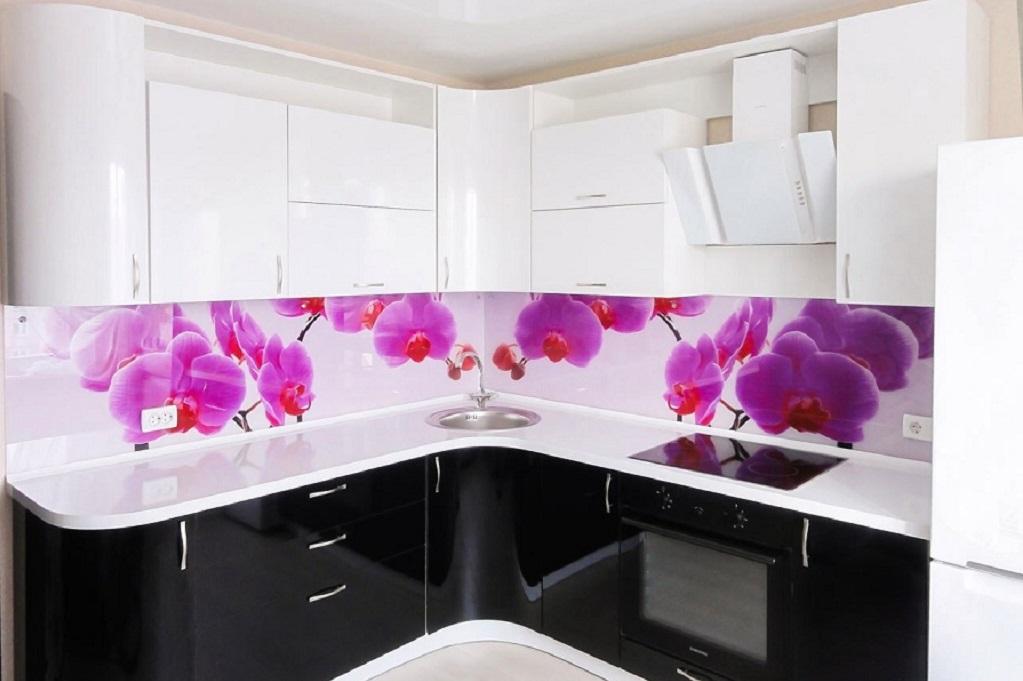 Кухня черно белая фотопечать